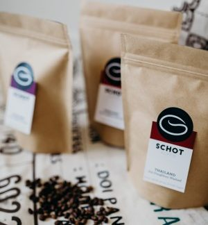 Schot koffiebonen